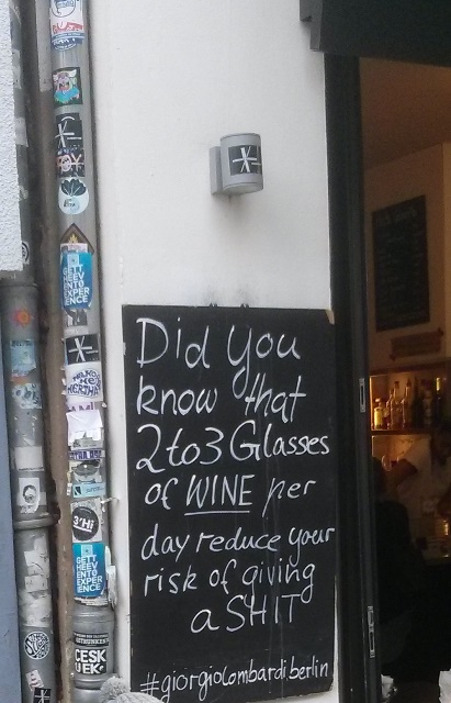 Restaurant advertisement in Berlin